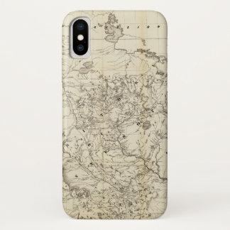 Coque iPhone X Territoire de la carte du Minnesota (1849)