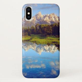 Coque iPhone X Tetons grand se reflétant en rivière Snake