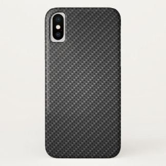 Coque iPhone X texture Carbone-fibre-renforcée de polymère