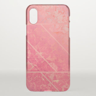 Coque iPhone X texture de marbre rose de cas de l'iPhone X