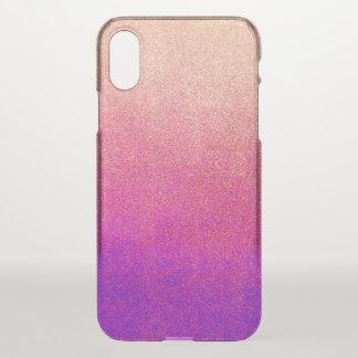 Coque iPhone X Texture pourpre au néon rose de peinture de jet