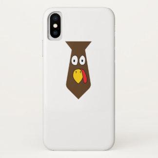 Coque iPhone X Thanksgiving de cravate de la Turquie pour le