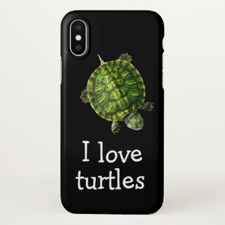 Coque iPhone X Thème mignon de tortues
