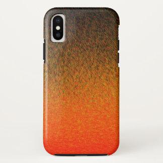 Coque iPhone X Tirets de coucher du soleil - cas de l'iPhone X