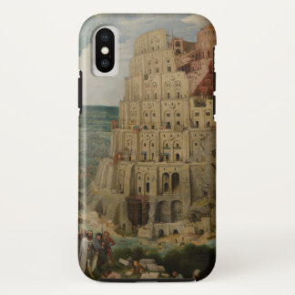 Coque iPhone X Tour de Babel par Pieter Bruegel l'aîné, 1563