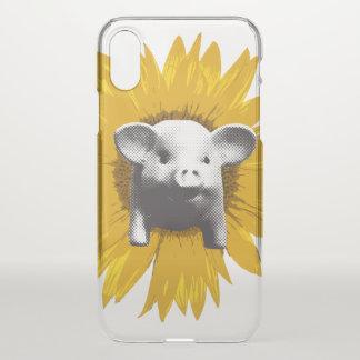 Coque iPhone X Tournesol porcin
