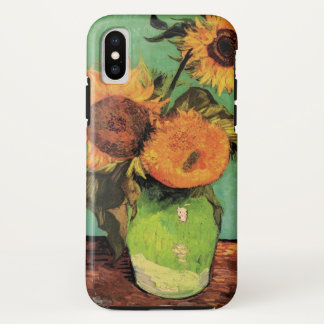 Coque iPhone X Tournesols de Van Gogh 3 en beaux-arts de cru de