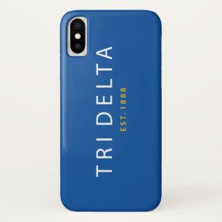 Coque iPhone X Tri est du delta  . 1888