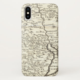 Coque iPhone X Tribus de l'Israël - carte antique de terre