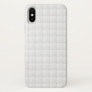 Coque iPhone X Tuile blanche