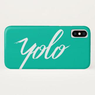Coque iPhone X Turquoise de YOLO