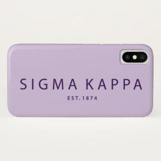 Coque iPhone X Type moderne de Kappa de sigma
