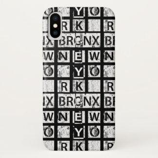 Coque iPhone X Typographie grunge de Bronx New York  