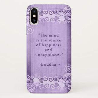 Coque iPhone X Typographie inspirée de citation de Bouddha