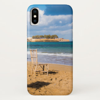 Coque iPhone X Une chaise par la mer