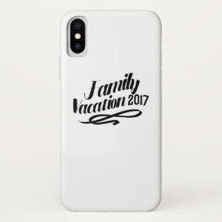 Coque iPhone X Vacances de famille drôles de vacances d'été 2017