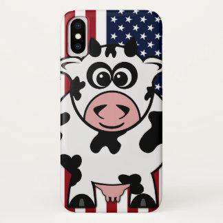 Coque iPhone X Vache américaine