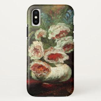 Coque iPhone X Vase à Van Gogh avec des pivoines, beaux-arts