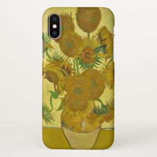 Coque iPhone X Vase à Van Gogh avec quinze tournesols GalleryHD