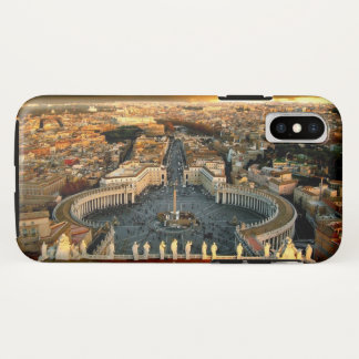 Coque iPhone X Vatican carré de St Peter