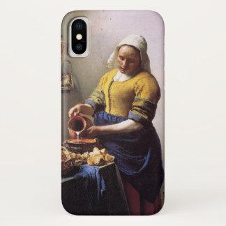 Coque iPhone X Vermeer la couverture d'iPhone de trayeuse