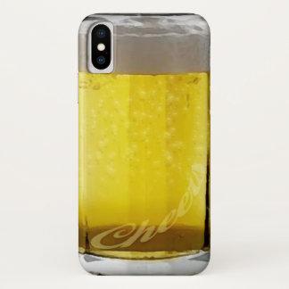 Coque iPhone X Verre de bière drôle
