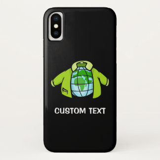 Coque iPhone X Veste de globe