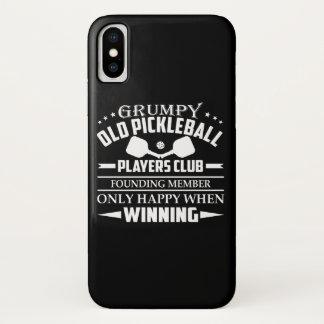Coque iPhone X Vieux club grincheux de joueurs de Pickleball