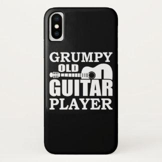 Coque iPhone X Vieux joueur de guitare grincheux de joueur de