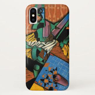 Coque iPhone X Violon et damier par Juan Gris