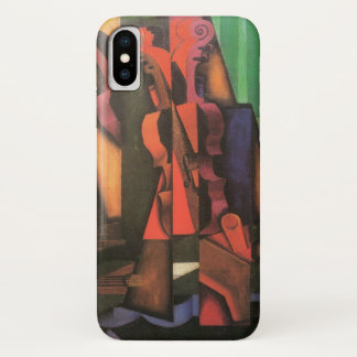 Coque iPhone X Violon et guitare par Juan Gris, art vintage de