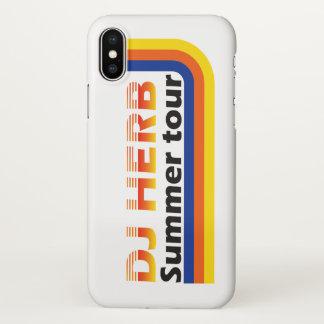 Coque iPhone X Visite d'été d'herbe du DJ