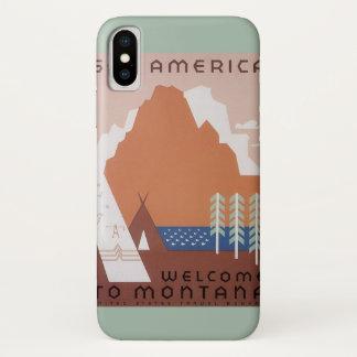 Coque iPhone X Voir l'accueil de l'Amérique au Montana, voyage
