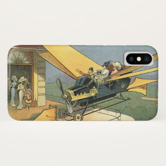 Coque iPhone X Voiture vintage de convertible de Steampunk de la