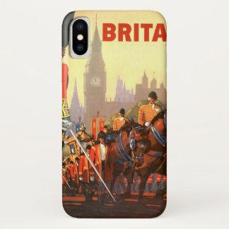 Coque iPhone X Voyage vintage, Grande-Bretagne Angleterre, garde