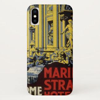 Coque iPhone X Voyage vintage, hôtel de brin de Marini, Rome,