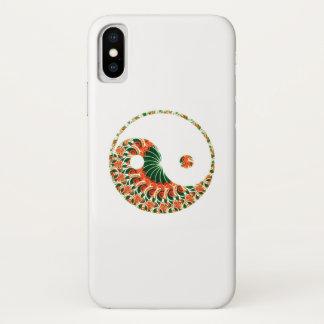 Coque iPhone X Yang de Yin dans le remous passionnant de mandala