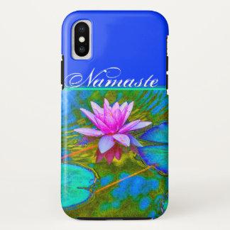 Coque iPhone X Yoga élégant Lotus de Namaste de réflexions