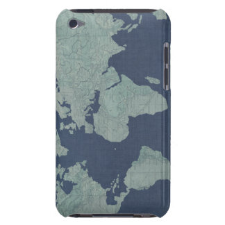 Coque iPod Case-Mate Carte de toile bleue du monde