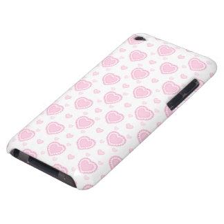 Coque iPod Case-Mate Coeurs roses et blancs romantiques