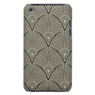 Coque iPod Case-Mate cru, nouveau d'art, beige, gris, art déco,