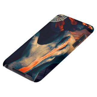 Coque iPod Case-Mate Madame peinte du coucher du soleil de désert
