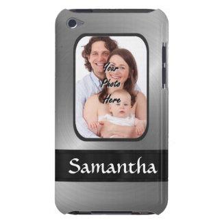 Coque iPod Case-Mate Photo de coutume de gris argenté