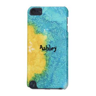 Coque iPod Touch 5G Aquarelle bleue/jaune