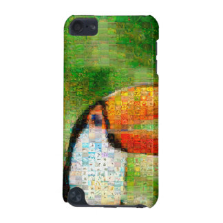 Coque iPod Touch 5G Art de collage-toucan de toucan - art de collage