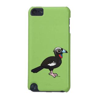 Coque iPod Touch 5G Birdorable Noir-a affronté Guan sifflant