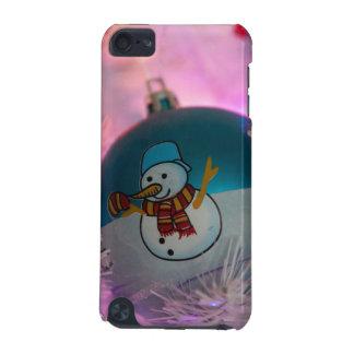 Coque iPod Touch 5G Bonhomme de neige - boules de Noël - Joyeux Noël