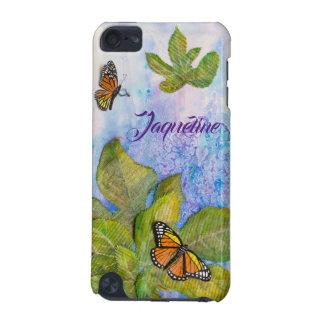 Coque iPod Touch 5G Caisse personnalisée d'iPod avec le papillon et le