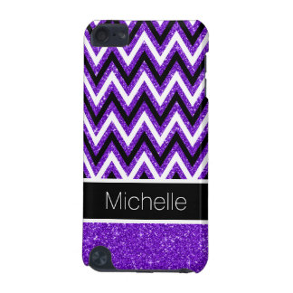 Coque iPod Touch 5G Caisse pourpre de contact de Chevron 5G iPod de
