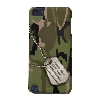 Coque iPod Touch 5G Camo vert militaire avec l'étiquette de chien
